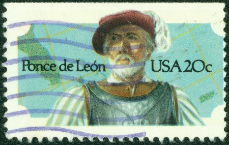 UNITED STATES - CIRCA 1982  A stamp printed by United states, shows Ponce de Leon, circa 1982