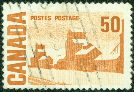 CANADA - CIRCA 1967  A stamp printed by Canada, shows  Summer s Stores  by John Ensor, circa 1967