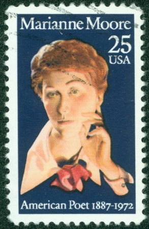 marianne: UNITED STATES OF AMERICA - CIRCA 1972  A stamp printed in the United States shows image of Marianne Moore, the poet, series, circa 1972
