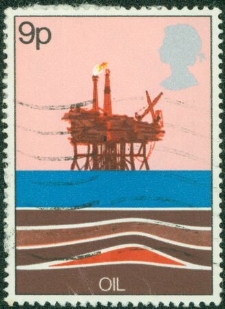 UNITED KINGDOM - CIRCA 1978  A Stamp printed in Great Britain showing Energy Resources - Oil, circa 1978 photo