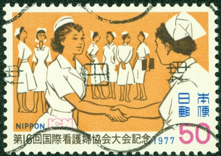 JAPAN - CIRCA 1977  A stamp printed by Japan, shows Nurse, circa 1977 Stock Photo - 14406824