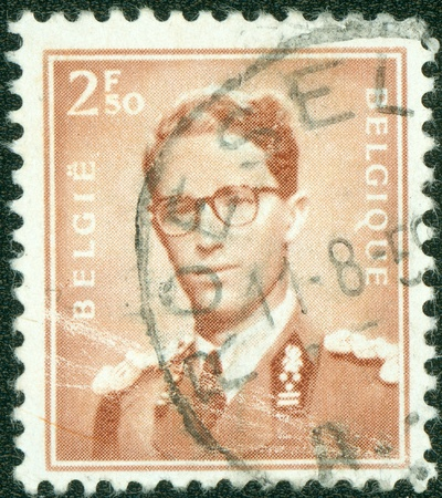 BELGIUM-CIRCA 1965 A stamp printed in Belgium shows image of a leader man, circa 1965