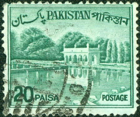 PAKISTAN-CIRCA 1970 A stamp printed in Pakistan shows image of the Architecture Pakistan, circa 1970 Stock Photo - 14591438