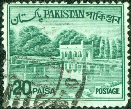 PAKISTAN-CIRCA 1970 A stamp printed in Pakistan shows image of the Architecture Pakistan, circa 1970 Stock Photo - 14591438