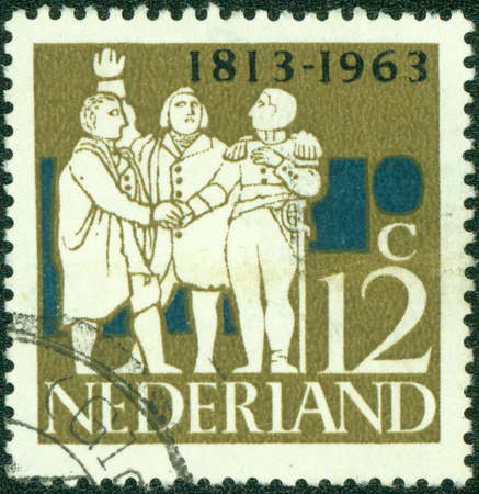 limburg: NETHERLANDS - CIRCA 1963  a stamp printed in the Netherlands celebrates 150th anniversary of independence  The Netherlands, circa 1963