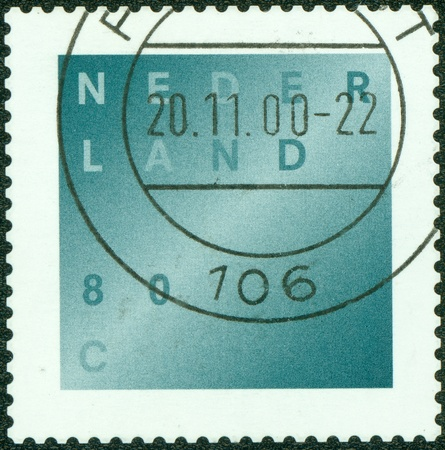 bereavement: NETHERLANDS - CIRCA 1998  A stamp printed in the Netherlands, shows Bereavement Stamp, Light across Darkness, circa 1998