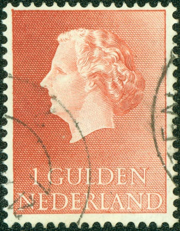 regnant: NETHERLANDS - CIRCA 1971  A stamp printed in the Netherlands, shows Juliana of the Netherlands, circa 1971 Editorial