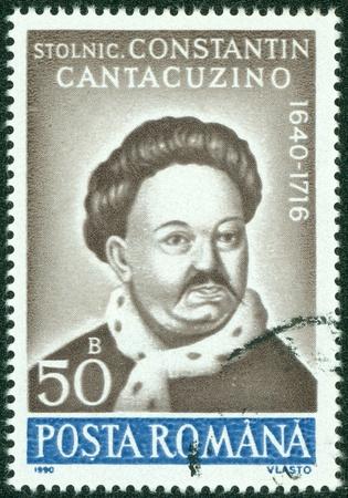 ROMANIA - CIRCA 1990  stamp printed by Romania, show Prince Constantin Cantacuzino, circa 1990  Stock Photo - 14762947