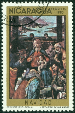 mannerism: NICARAGUA - CIRCA 1983  A Stamp printed in NICARAGUA shows the painting , circa 1983