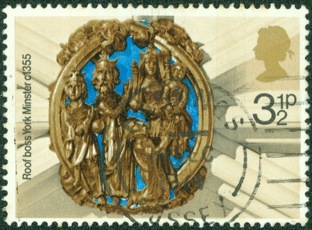 UNITED KINGDOM - CIRCA 1974  A stamp printed in England, Christmas  Adoration of the Kings, York Minster, circa 1974 photo
