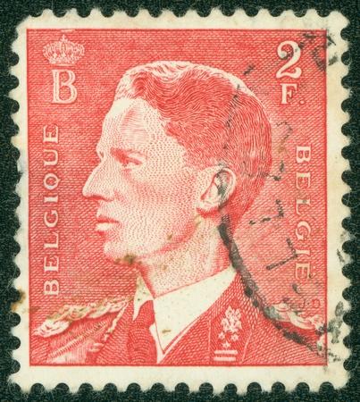 baudouin: BELGIUM - CIRCA 1952  A stamp printed in Belgium, shows Baudouin I of Belgium, circa 1952 Editorial