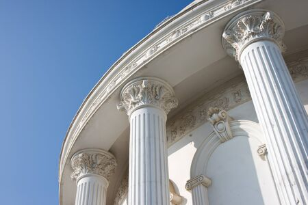 classical building with blue sky photo