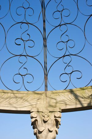 steel art with blue sky Stock Photo - 15146970