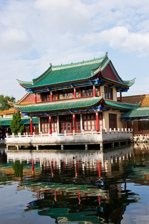 historic building by the lake kunming in yunnan ,china photo