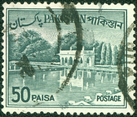 PAKISTAN-CIRCA 1970 A stamp printed in Pakistan shows image of the Architecture Pakistan, circa 1970  Stock Photo - 15156991
