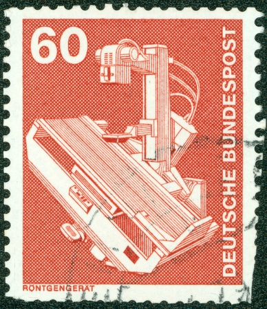 GERMANY-CIRCA 1978 A stamp printed in Germany shows image of X-ray generator is a device used to generate X-rays, circa 1978