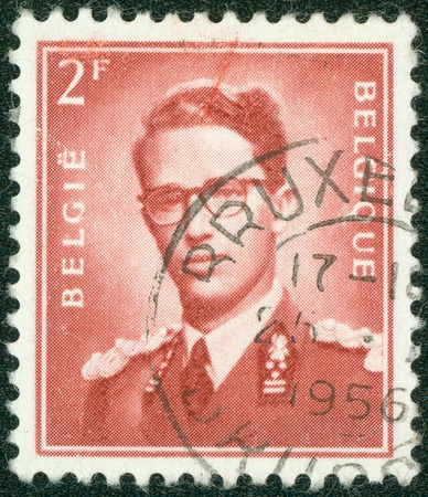 stempeln: BELGIUM - CIRCA 1970  A stamp printed in Belgium shows King Baudouin  1930-1993  ,  Marchant  ; ; , circa 1970   Editorial