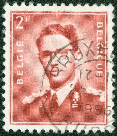 baudouin: BELGIUM - CIRCA 1970  A stamp printed in Belgium shows King Baudouin  1930-1993  ,  Marchant  ; ; , circa 1970   Editorial