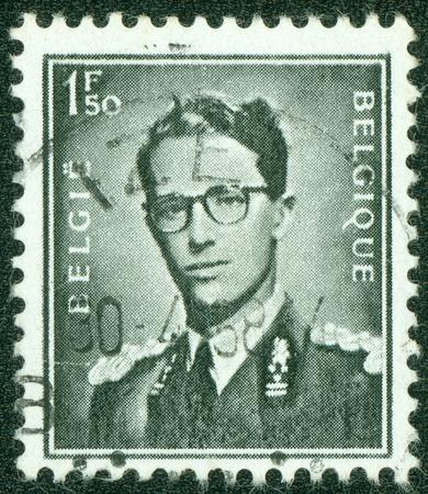 baudouin: BELGIUM - CIRCA 1953  A stamp printed in Belgium shows portrait King Baudouin  1930-1993 , circa 1953
