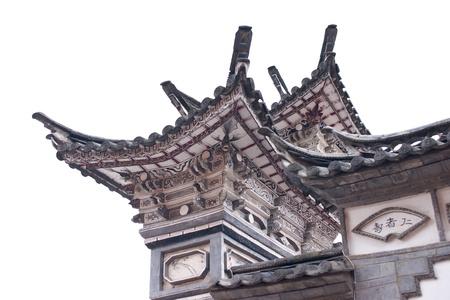 中国の歴史的な建物は麗江、雲南省、中国で撮影されました。 写真素材