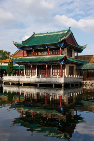historic building by the lake,kunming,yunnan ,china