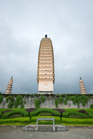 Buddhist pagodas in Dali, Yunnan province of China photo