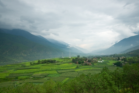 shangrila: Landscape of village in rural area of Shangri-La county,Yunnan province, China