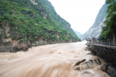 Tiger Leaping Gorge in Lijiang, Yunnan Province, China  photo