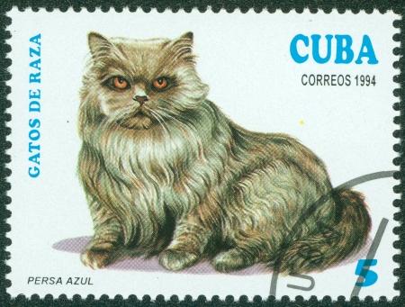 CUBA - CIRCA 1994  A stamp printed in Cuba shows Persa Azul, circa 1994