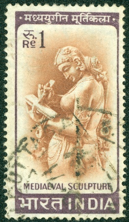 INDIA - CIRCA 1953  stamp printed by India, shows Sculpture, circa 1953
