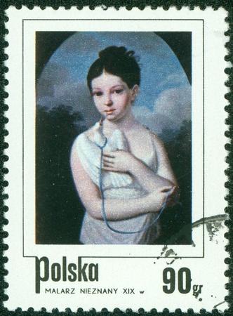 POLAND - CIRCA 1967  A stamp printed in Poland shows a Polish Woman, circa 1967  Stock Photo - 16043013