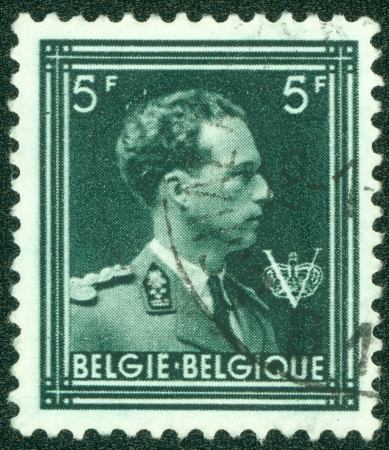 belgie: BELGIUM - CIRCA 1944  A stamp printed in Belgium, shows Leopold III of Belgium, circa 1944