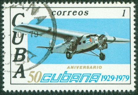 CUBA -CIRCA 1979  postage stamp printed in Cuba shows old rare planes, circa 1979 Stock Photo - 16233123