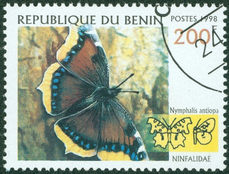 BENIN - CIRCA 1998  stamp printed by BENIN, shows butterfly, circa 1998