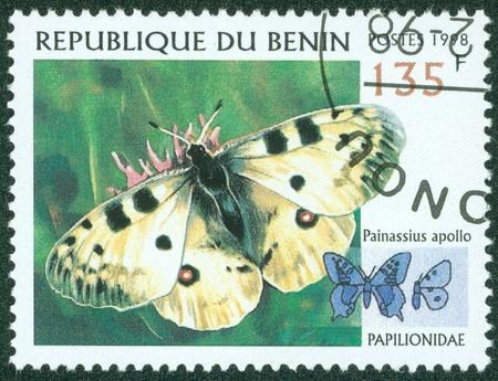 BENIN - CIRCA 1998  stamp printed by BENIN, shows butterfly, circa 1998