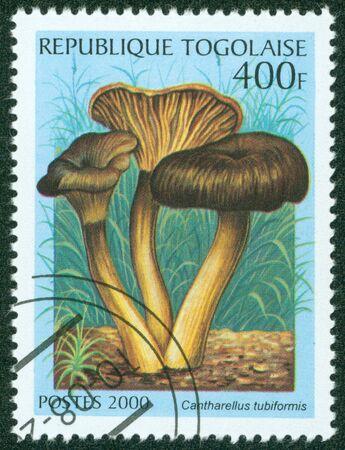 philatelic: TOGO - CIRCA 2000  A stamp printed in Togo shows Mushroom,circa 2000