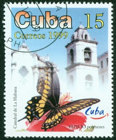 CUBA - CIRCA 1999  A Stamp printed in CUBA shows butterfly, circa 1999 Stock Photo - 16302148