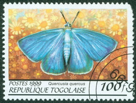 TOGO - CIRCA 1999  A stamp printed in Togolese Republic shows butterfly , circa 1999 Stock Photo - 16302150