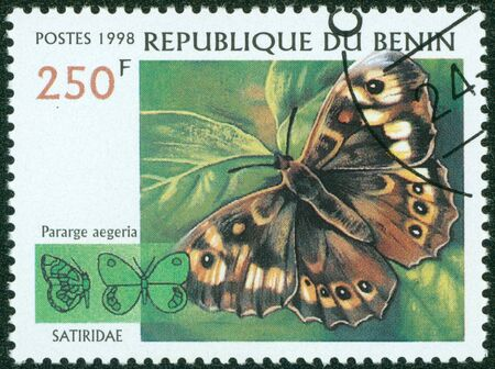 BENIN - CIRCA 1998  stamp printed by BENIN, shows butterfly, circa 1998  Stock Photo - 16302123
