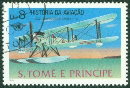 GUINEA - CIRCA 1979  A stamp printed in Republic of GUINEA, shows plane, circa 1979 Stock Photo - 16320986