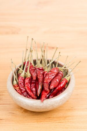 Red pepper in bowl photo