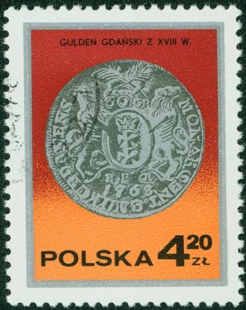 gulden: POLAND - CIRCA 1970  A stamp printed in the Poland shows Gulden from Gdansk, series, circa 1970 Stock Photo