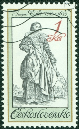 CZECHOSLOVAKIA - CIRCA 1985  A stamp printed in Czechoslovakia showing woman circa 1985 Stock Photo - 16507224