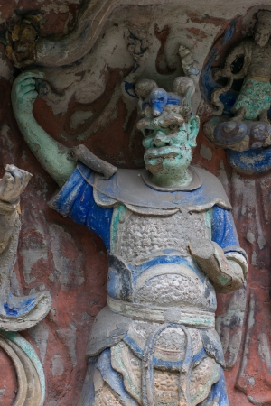 liu: DAZU TOWN CHONGQING CHINA - APRIL 15  Ancient Buddhist Hillside Rock Carvings, Ten Austerities of Liu Benzun - April 15,2012, Baodingshan temple, Dazu town, Chongqing, China Editorial