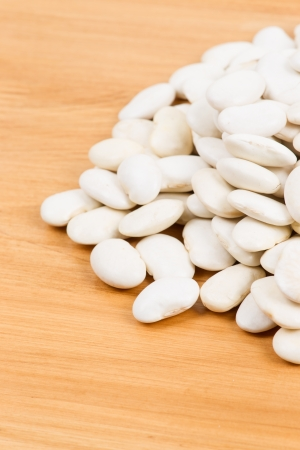 lima bean: Pile of Lima Bean isolated on table   Stock Photo