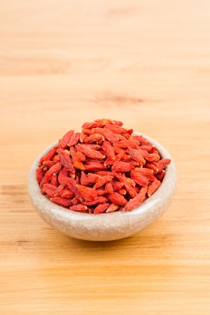 dried wolfberry fruit in bowl photo
