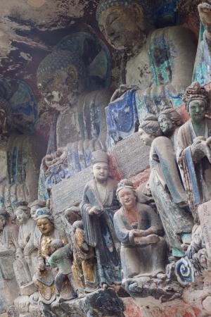 liu: DAZU TOWN CHONGQING CHINA - November 23,2012  Ancient Buddhist Hillside Rock Carvings, Ten Austerities of Liu Benzun - November 23,2012 , Baodingshan temple, Dazu town, Chongqing, China Editorial