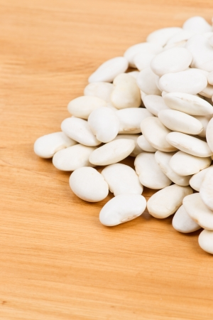 lima bean: Pile of Lima Bean isolated on table