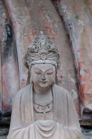 liu: DAZU TOWN CHONGQING CHINA - NOVEMBER 23   Ancient Buddhist Hillside Rock Carvings, Ten Austerities of Liu Benzun - November 23,2012 at Baodingshan temple in Dazu town, Chongqing, China Editorial