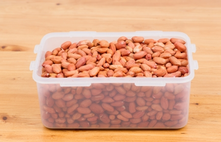 Peanuts in plastic box